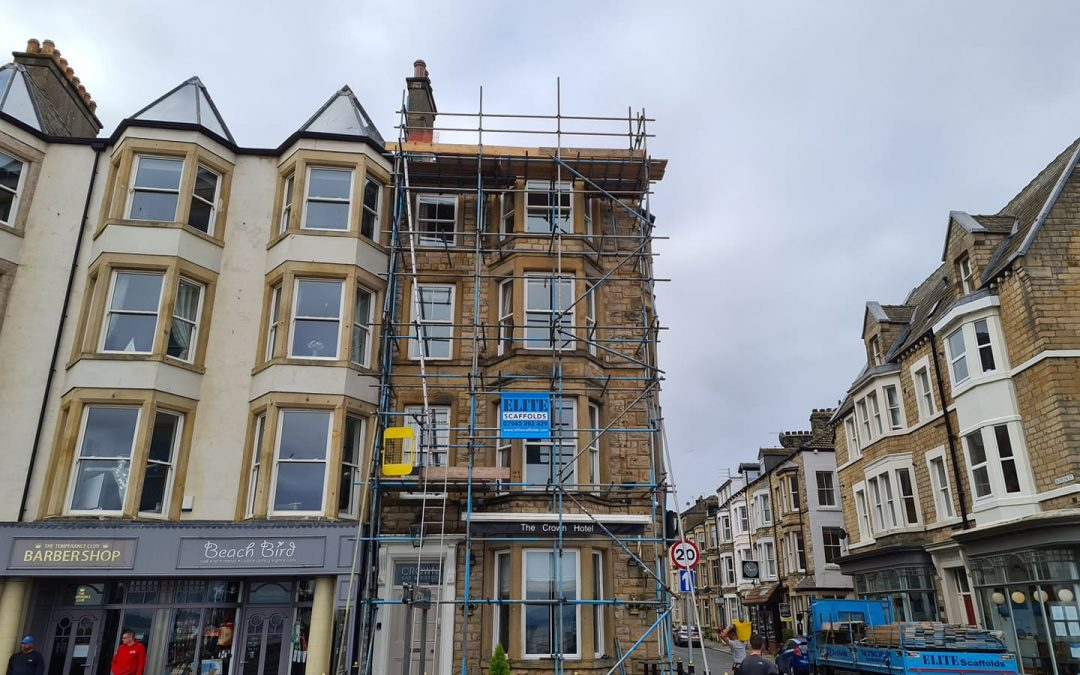Six-Story Scaffold in Morecambe