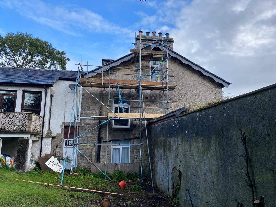 Scaffolders in Grange over Sands