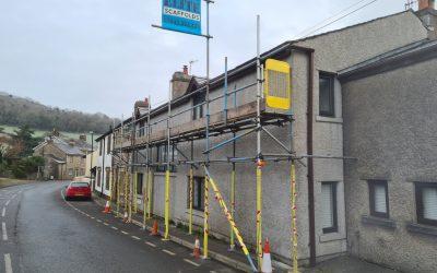 Scaffolding in Warton